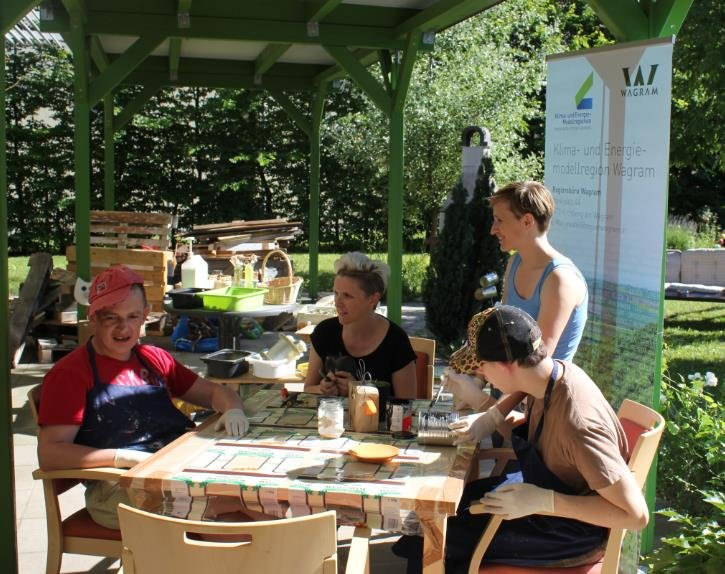 1. Recycling Café in der Region Wagram